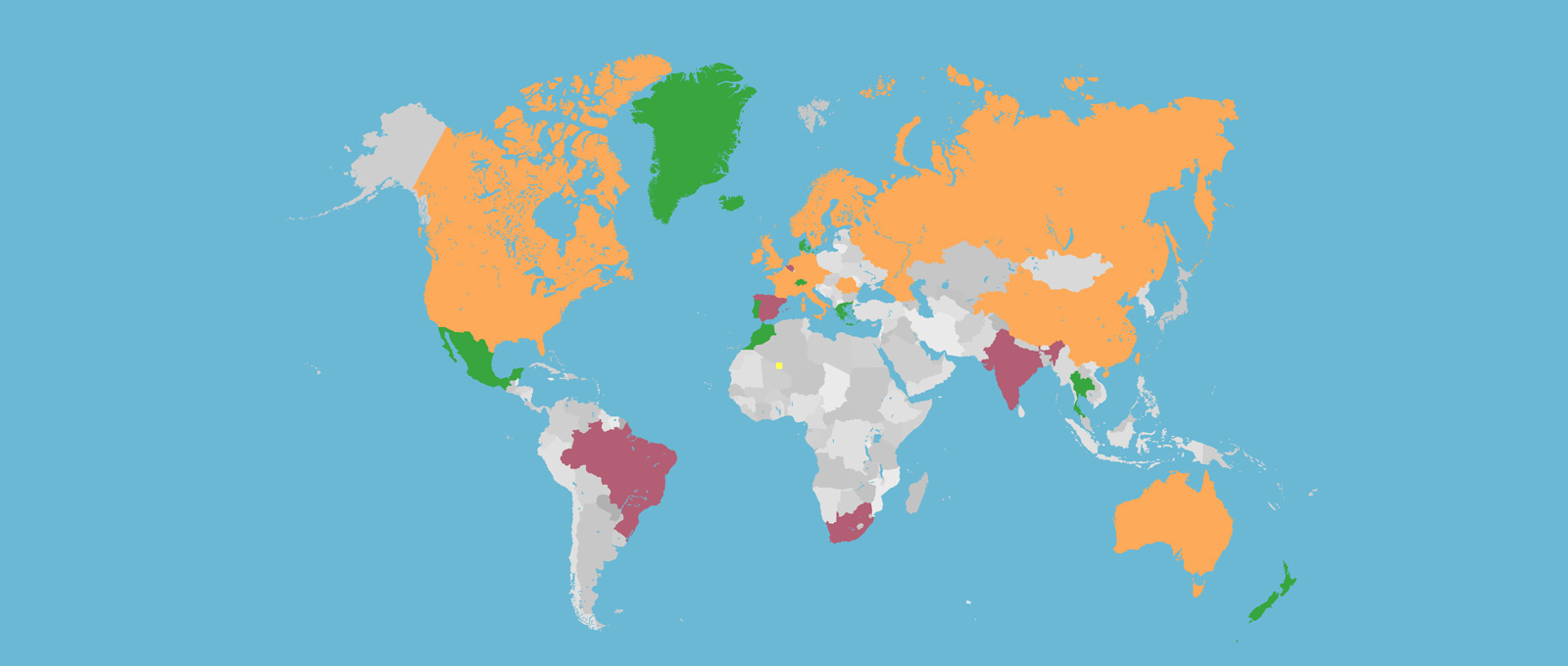 Which Countries Can Multirotors Be Flown Commercially Jamie - Drone ban map